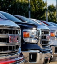 GMC Vehicle Lot