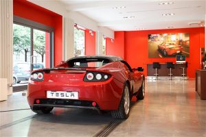 Tesla Store in Munich, Germany