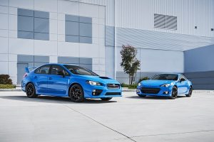 2016 WRX STI and 2016 BRZ Hyper.Blue Editions