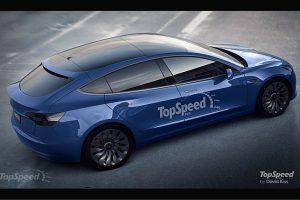 TopSpeed Tesla Model 3 hatchback rendering