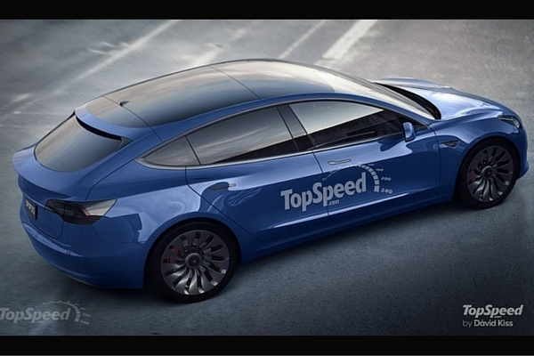 TopSpeed Tesla Model 3 hatchback rendering