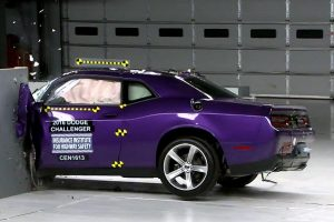 2016 Challenger struggled in the IIHS' small-overlap test.