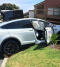 Crashed Tesla Model X